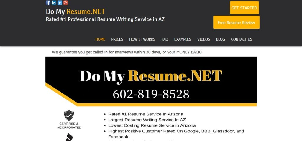 Domyresume Net Review 5 5 10 Properresumes