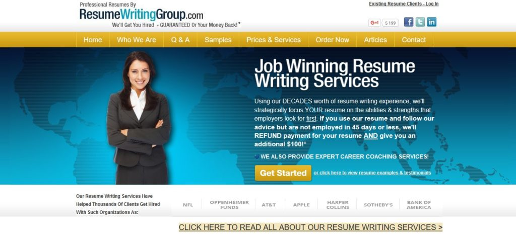 Resumewritinggroup Com Review 7 0 10 Properresumes